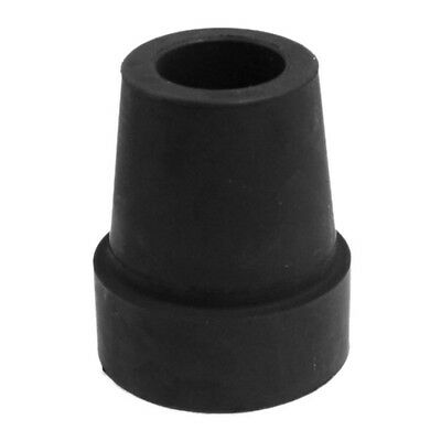 "19mm 3/4"" Black Rubber Skid Resistant Cane Pad Crutch Tip LW"