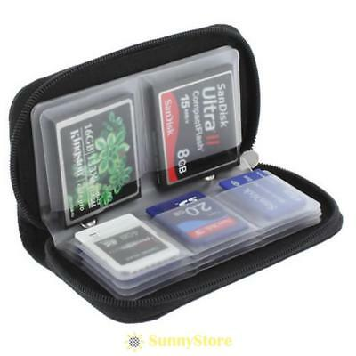 Memory Card Holder Storage Carry Pouch Wallet Case CF Micro SD SDHC MMC XD   SS