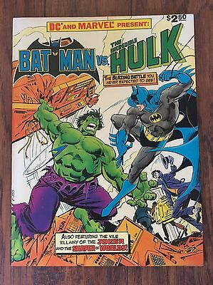 Batman vs The Incredible Hulk Treasury Edition NM- IMO 1981 Marvel D.C. Comic