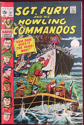 Sgt. Fury & His Howling Commandos #87 Very Nice Copy
