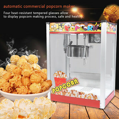 Large Commercial Store Electric 8oz Popcorn Maker Machine Corn Party 1440W NEW