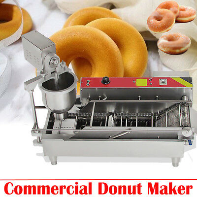 【Dhl】3 Sets Mold Commercial Automatic Donut Maker Making Machine, Wide Oil Tank