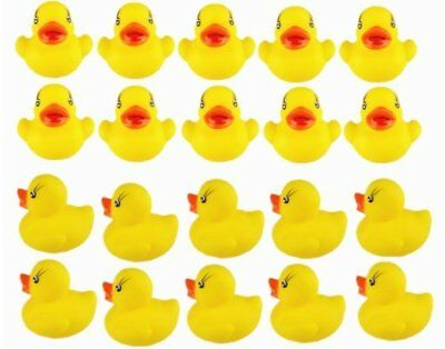 20pcs tiny Yellow Duck toy for Baby Bath Tub Bathing Rubber Squeaky Toy 4*3.5cm