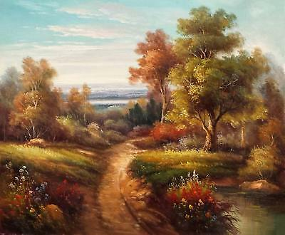 Classic Landscape, Antique style, 20x24 100% Hand Painted Oil Painting on Canvas