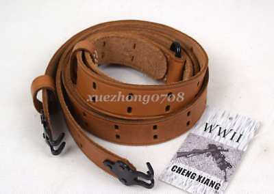 Wwii Us Army Garand Rifle M1 M1907 M1903 Leather Sling Military Gun Strap