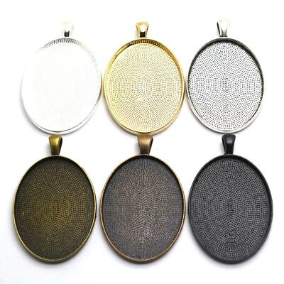 5pcs 30x40mm Simple Style Cabochon Base Setting Charms Pendant Picture Trays