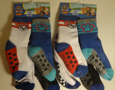 2 - 4 PKS (8 PAIRS) NEW Paw Patrol Athletic Socks 4T - 5T Toddler NICK JR