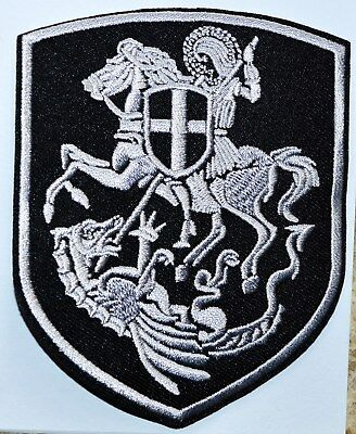 ST.GEORGE KILL DRAGON SHIELD CROSS ORTHODOX PENDANT Crusaders IRON ON PATCH