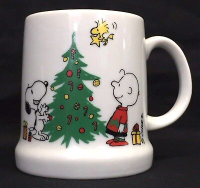 Peanuts Snoopy Woodstock Merry Christmas 1977 Coffee Mug Hot Cocoa Cup Holiday