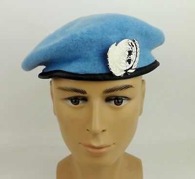 0d022fb32dc50 United Nations Peacekeeping Forces Military Special Forces Wool Beret Hat  Badge