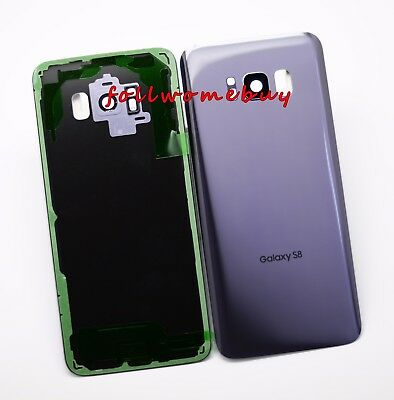 """Rear Panel Battery Back Door Cover/Flash For Samsung Galaxy S8 5.8"""" G950P Purple"""