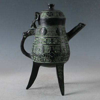Delicate Chinese Bronze Decorative Pattern Teapot
