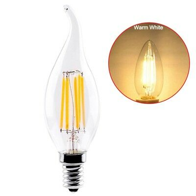 E14 220V 2W,4W,6W C35 LED Filament Candle Light Bulb Cold/Warm White Lamp N Y8Y8