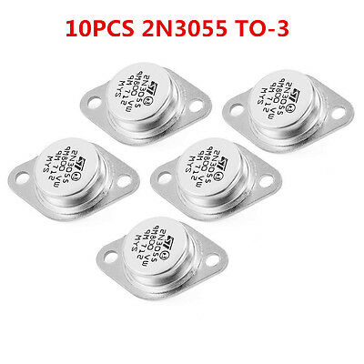 10pcs 2N3055 NPN AF Amp Audio Power Transistor 15A Top sale Fast