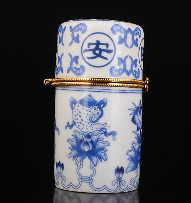Porcelain Toothpick Box Painting Flower Crafts Gift Collectable