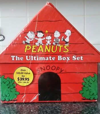 Peanuts The Ultimate Box Set 9 Hardcover Classic Books in Snoopy Doghouse Schulz