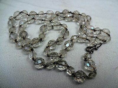 Antique Sphatik Beads Mala/tasbih With Silver Fitting Rare Religious Collectible