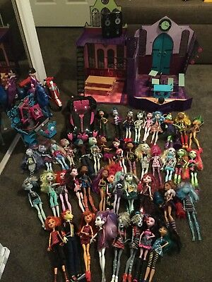 Monster High Dolls With Playset And Accessories BULK LOT