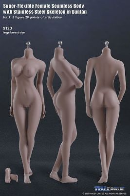TBLeague 1/6  PHICEN   Seamless female body S12D  figure Black Widow head
