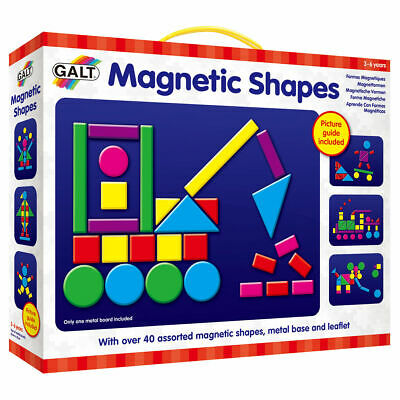 Galt Toys Magnetic Shapes - Over 40 Magnetic Pieces In Assorted Shapes/Colours
