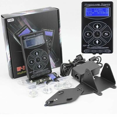 Pro Black HP-2 Hurricane Tattoo Power Supply Digital Dual LCD Display Machines