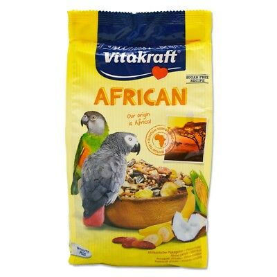 Vitakraft African Large Parrot Food 750g - Grey & Conure Bird Food Seed Mixture