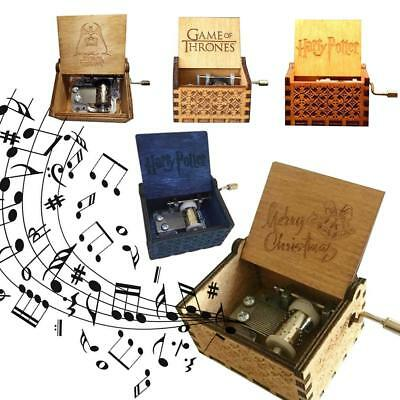 Harry Potter Game of Thrones Star Wars Engraved Wooden Music Box Craft Toy Gifts
