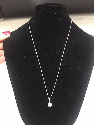 Diamond, pendant Necklace, white gold chain RRP £200