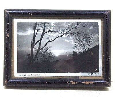 Vintage Beautiful SUNRISE from TIGER HILL SCENE Black&White Photograph #340