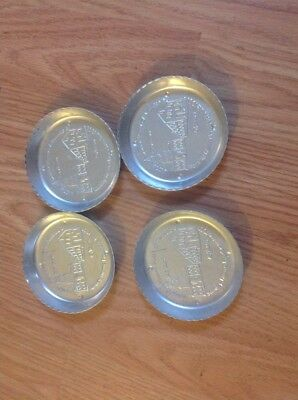 4 Vintage  Stanley Home Product Aluminum Coasters