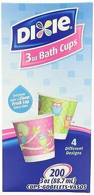 Dixie 3 Ounce Cups, Assorted Patterns, 200 Count Box Pack of 3