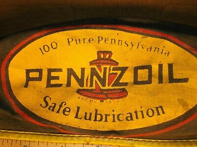 VINTAGE PENNZOIL GAS OIL ADVERTISING SERVICE ATTENDANT HAT CAPS Pre-Owned USED