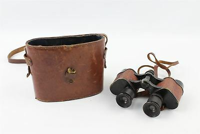 Lovely U.S Army Military Binoculars with Case Tan Leather