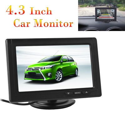 """2-Channel 4.3"""" 480x272 Color TFT LCD Screen Video Input Car Rear View Monitors"""
