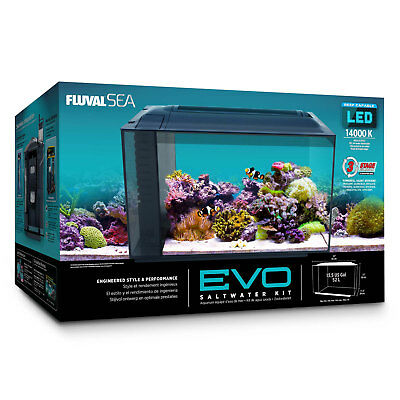 Fluval Sea EVO Marine Aquarium Tank Kit with Reef LED Lights - 52 ltr