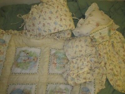 Vintage Quiltex BEATRIX POTTER PETER RABBIT 6 pc crib bedding made in USA
