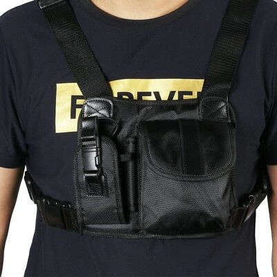 Marvogo Radio Chest Harness Front Pack Pouch Holster Vest Rig for 2 Way Walkie