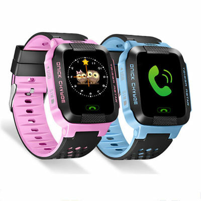 Smart Watch Bluetooth GPS GSM Locator Tracker SOS Call Flashlight For Kids Child