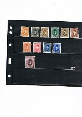 Egypt Stamps #397 Miscellaneous Items Of King Fuad 1927-37 Mounted Mint