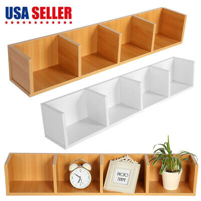 Wooden Modern Floating Wall Shelves Display Shelf Rack Book CD Storage  Organizer