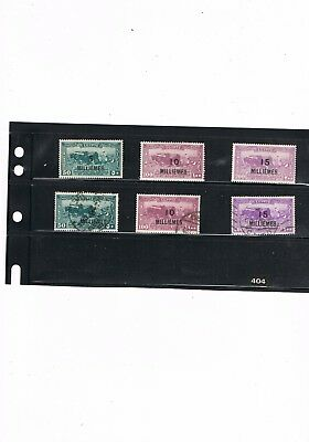 Egypt Stamps #404 - 1926 Surcharges On 1925 Stamps - Mounted Mint/used Sg135/7