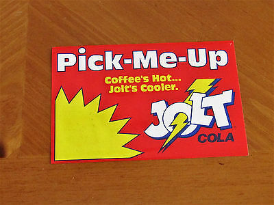 VINTAGE JOLT COLA SODA  Coffee's Hot .... Jolt's Cooler. PICK ME UP STICKER