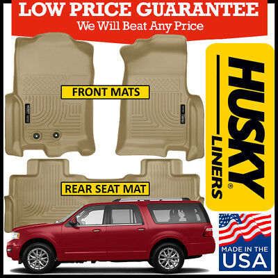 Husky Liners Weatherbeater   Ford Expedition Floor Mats Set Tan