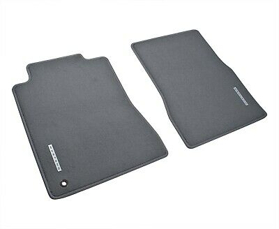 2005-2009 Mustang OEM Genuine Ford Gray Graphite 2pc Front Floor Mats w Emblem