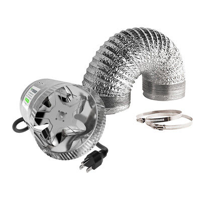 "VIVOSUN 4"" 6"" 8"" inch Inline Duct Booster Fan & Air Aluminum Ducting Combo Set"