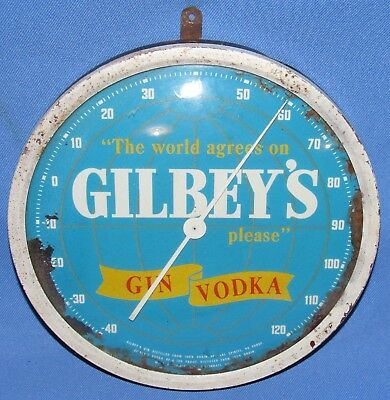 Gilbey's Gin Vodka The World Agrees On Please Thermometer Advertisement