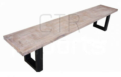 Balmoral 2200 Weathered Parquetry Hardwood Bench - BRAND NEW