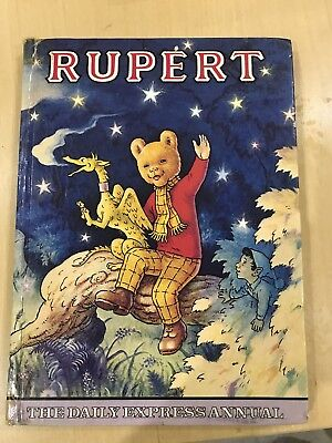 Rupert The Bear Annuals x 4 vintage collection