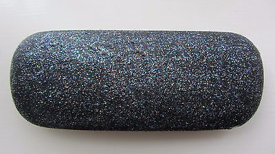 Black glitter, metal glasses case, hard spectacle, hand decorated, Xmas gift(K2)