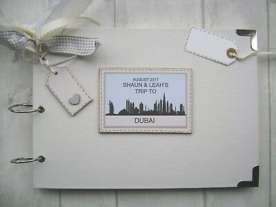 personalised a4 size photo album scrapbook travel holiday adventure trip  DUBAI